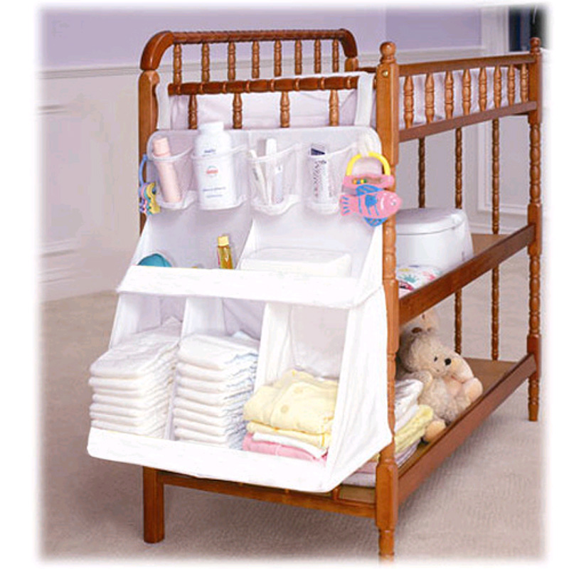Ernst Multi-funktion Lagerung Tasche Baby Krippe Windel Caddy Infant Bett Hängen Windel Veranstalter Bett Stoßstange Cradle Tasche Multi- Tasche