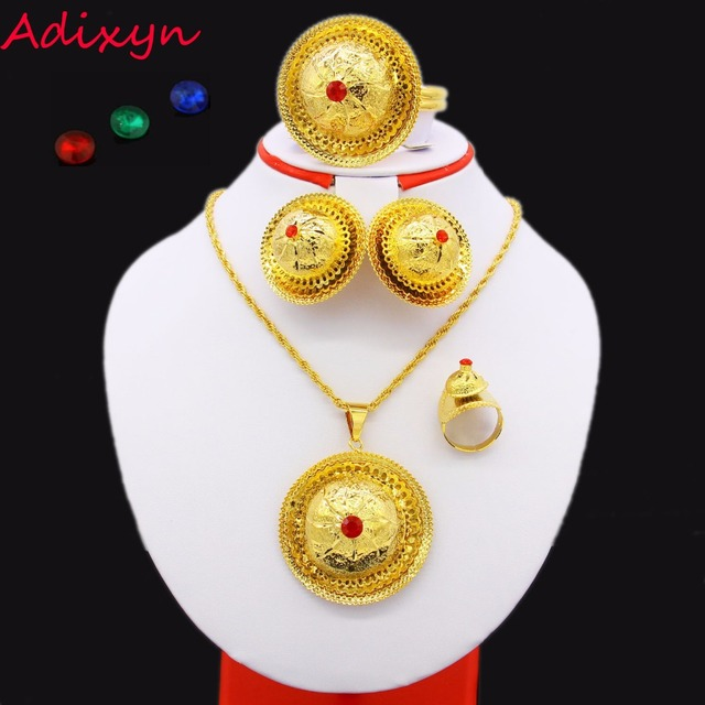 2017 Ethiopian Wedding Jewelry sets Gold Color Fashion Jewelry