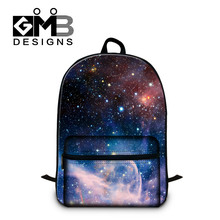 Landscape Backpacks for Teen Boys Cotton Fabric School Bags for Youth College Bookbags Galaxy Printed Girl laptop computer bag