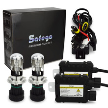Safego bi xenon 55 Вт HID комплект H4 6000 К 8000 К 4300 К DC 12 В 35 Вт HID ксенона H4-3 H13-3 9004-3 9007-3 HID комплект h4 биксенон