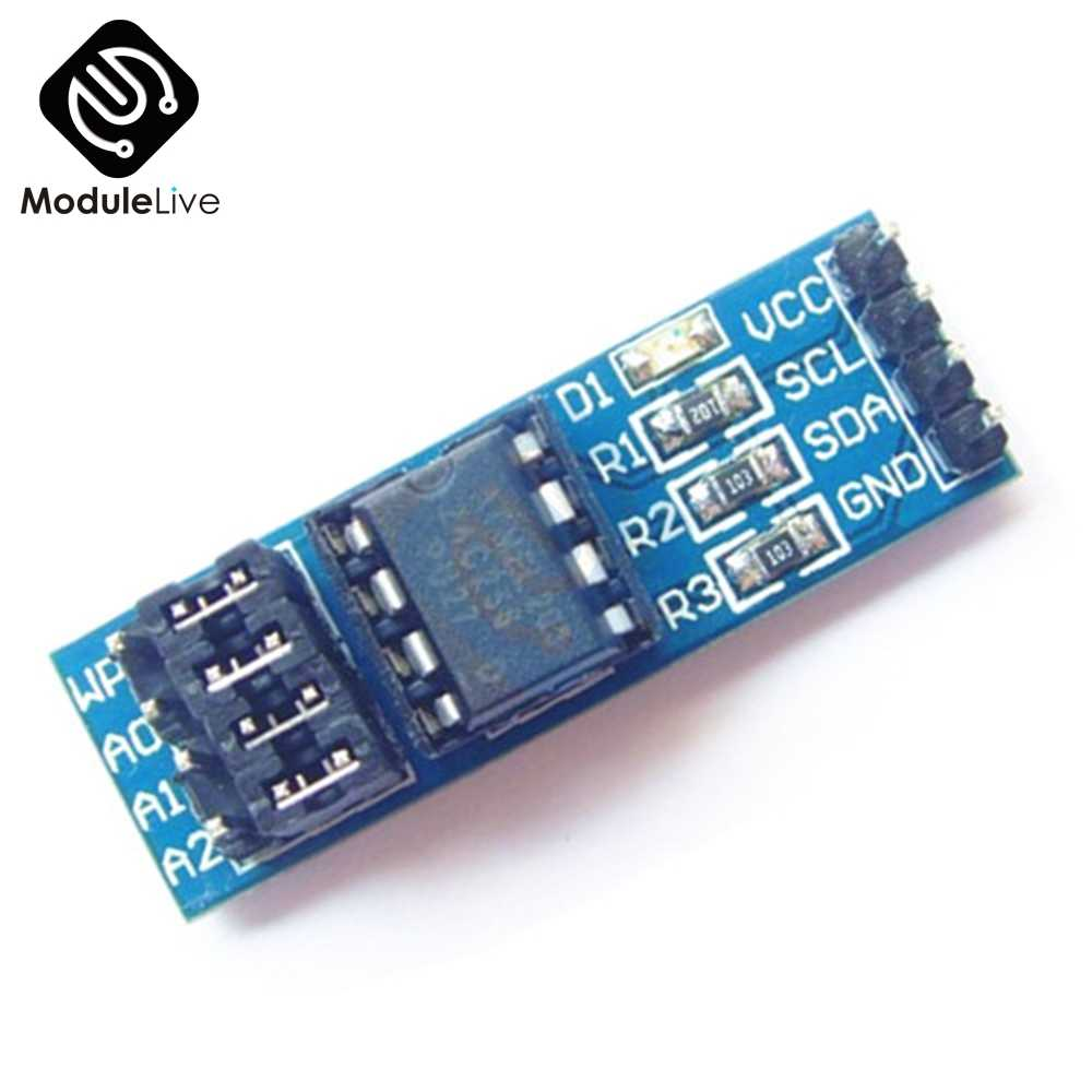 AT24CXX I2C Interface Adapter 8 Pin EEPROM Memory Modules PCB Excluding  Chips Board 8P Pull Up Resistor Board Module