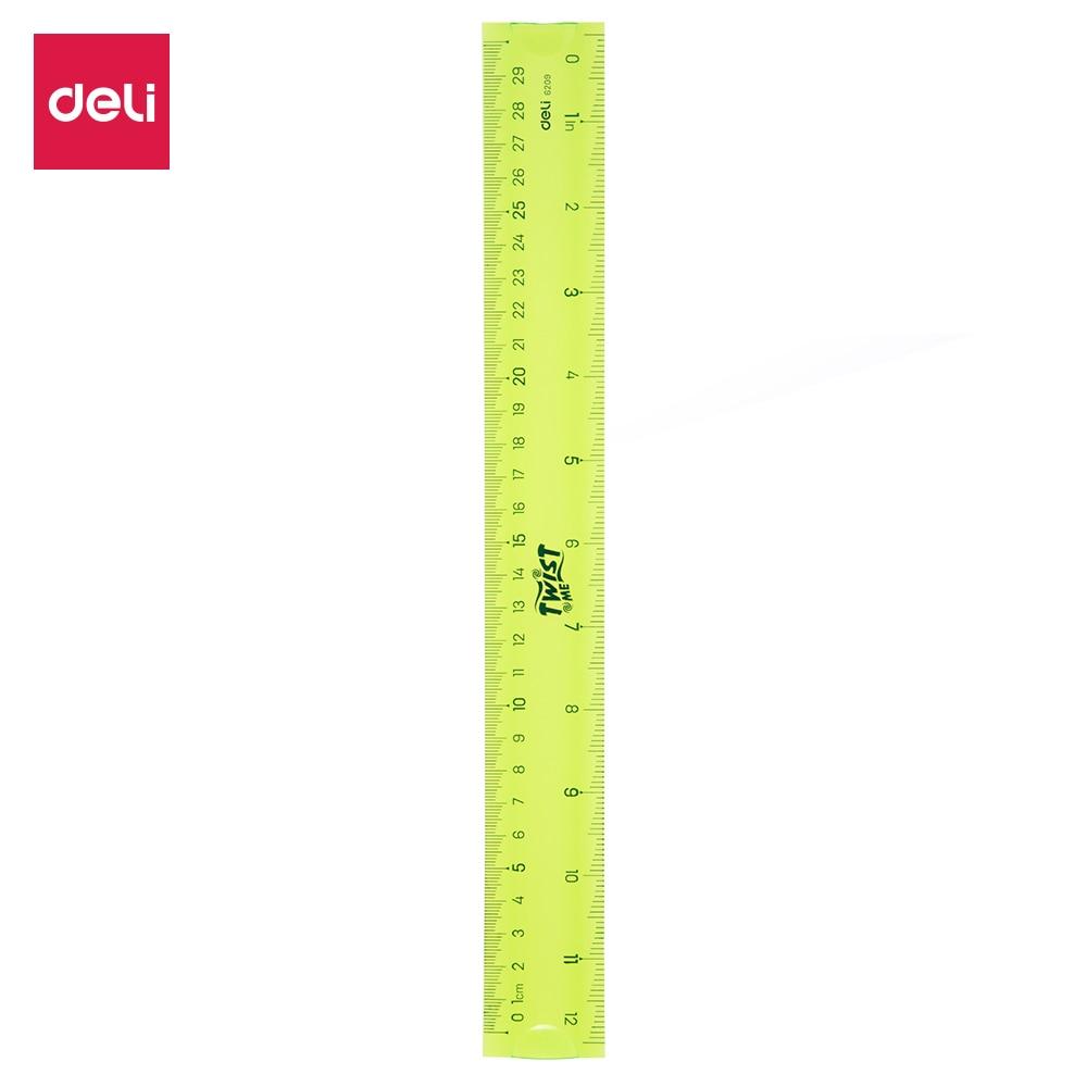 Deli E6209 School Drafting Flexional Soft Ruler EcoPVC Flexible Ruler 30cm 3C
