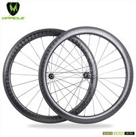 High Technology 2018 700C Racing Bicycle Carbon Road Wheels 18K Kevlar Tubular 56mm Carbon Fiber Road