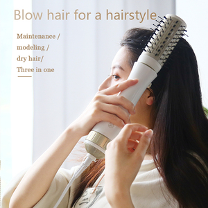 Image 2 - PRITECH Multifunctional Blow Hair Dryer Professional Hair Curler Hair Styling Tools Hairdryer Curler Brush Powerful Hair Dryer