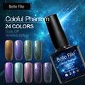 10ml Chameleon Powder Soak Off Lacquer holographic nail polish Enamel Ultra Fine Nail Glitter Pigment Builder nagellak gelpolish