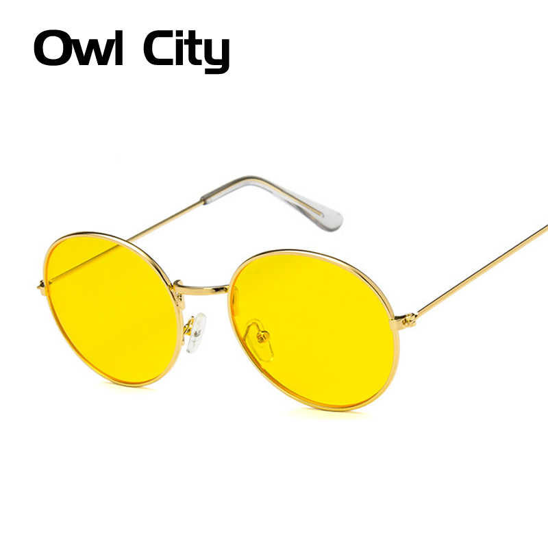 522ca98e8c7 Detail Feedback Questions about Round Sunglasses Women Men Vintage Yellow Color  Lens Sunglass Female Brand Design Metal Frame Circle Glasses Oculos UV400  on ...