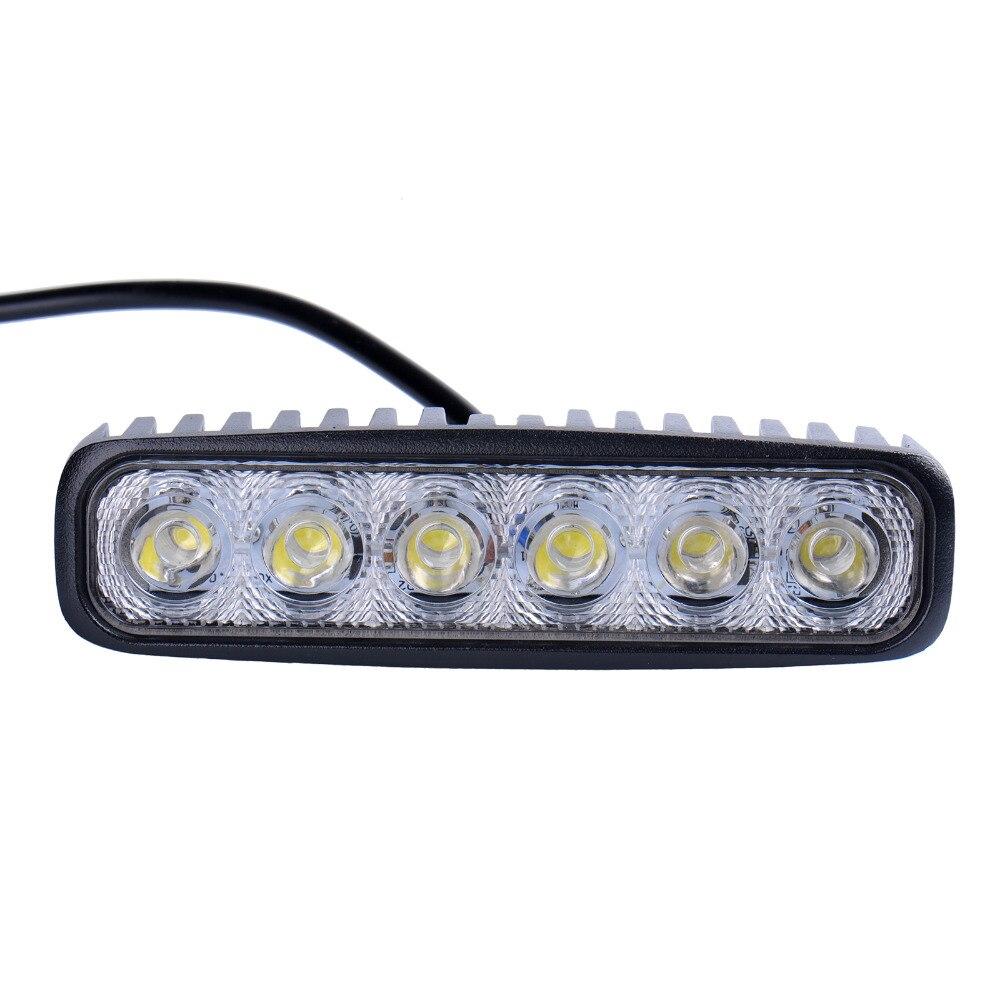 8pcs LED Spotlights 1800LM Mini 6 Inch 18W 6 X 3W Car LED Light Bar ...