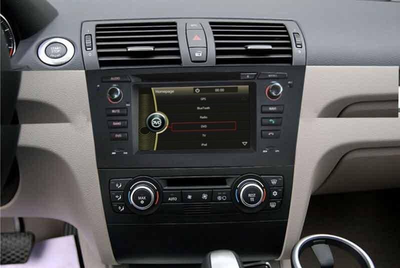 car dvd player gps navigation for bmw 1 series e81 e82 e88 with radio stereo bluetooth tv sd swc. Black Bedroom Furniture Sets. Home Design Ideas