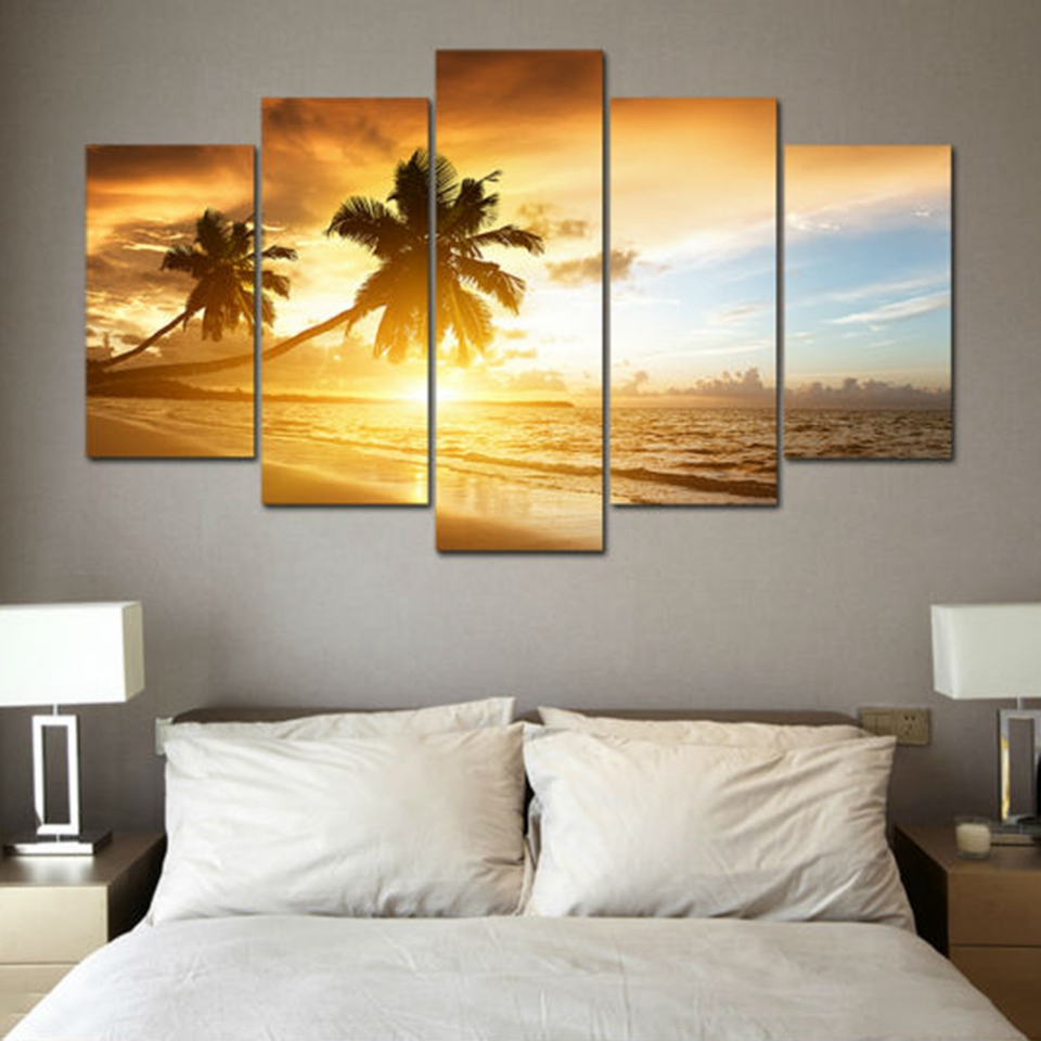 Canvas Wall Art Pictures Modern Frame Living Room Decor 5 Pieces ...
