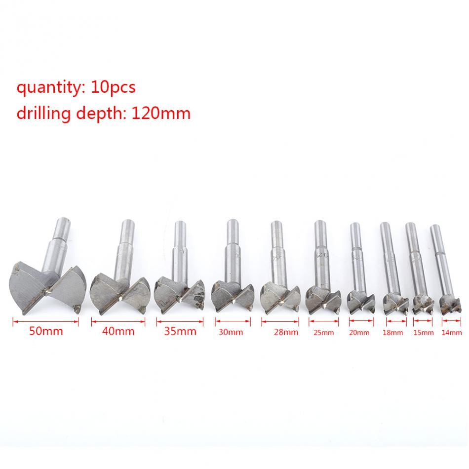 The Cheapest Price 3-10mm 8pcs Titanium-plated Woodworking Three-point Drill Set Wood Timber Drilling Tool Clearing Woodworking Drill A Great Variety Of Models Tools Hand & Power Tool Accessories