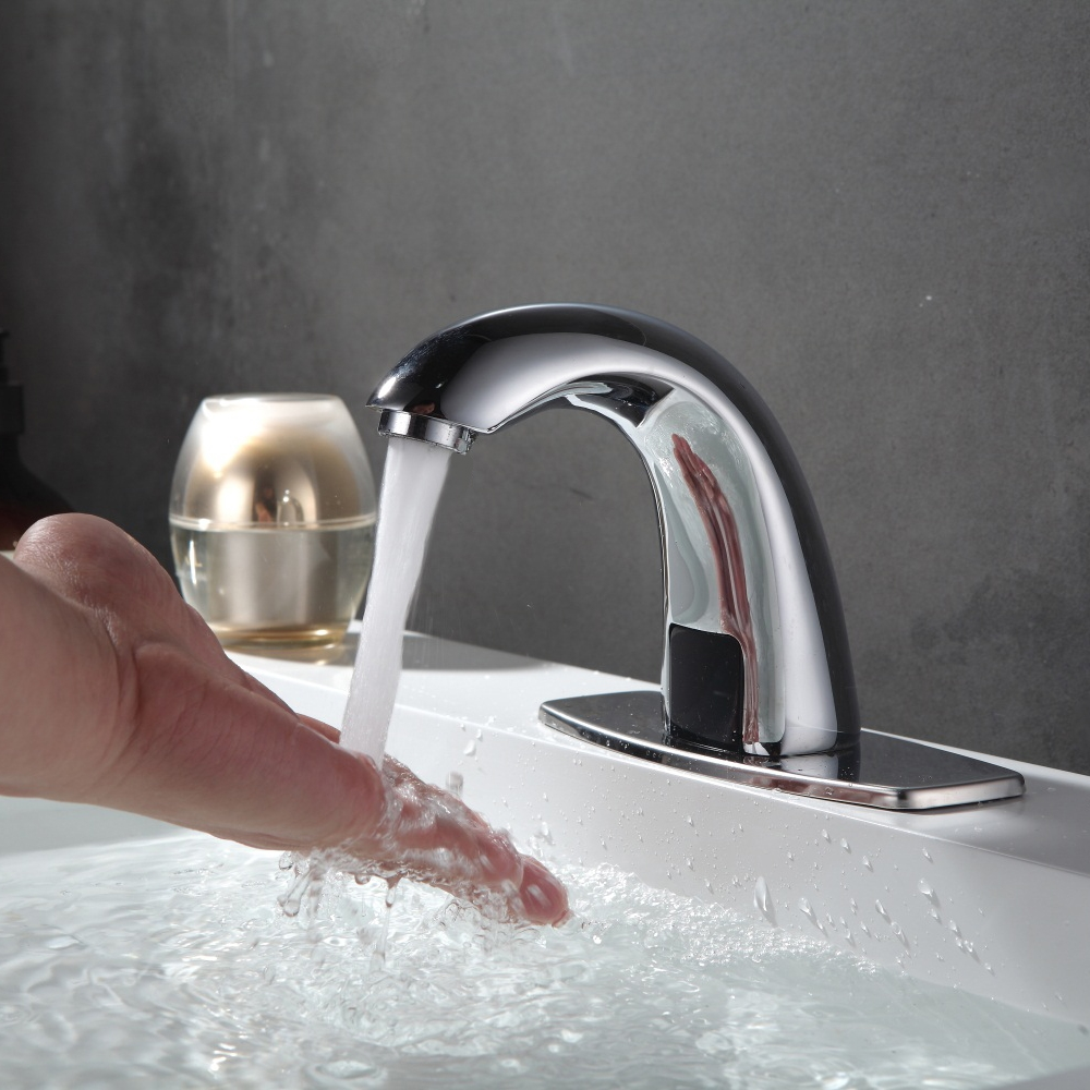 Bathroom Automatic Hands Touch Free Sensor Faucets water saving ...