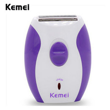 Portable Kemei KM-280R Women Rechargeable Epilator Little And Dainty Feminine Electric lady Shaver Hair Removal Shaving Products