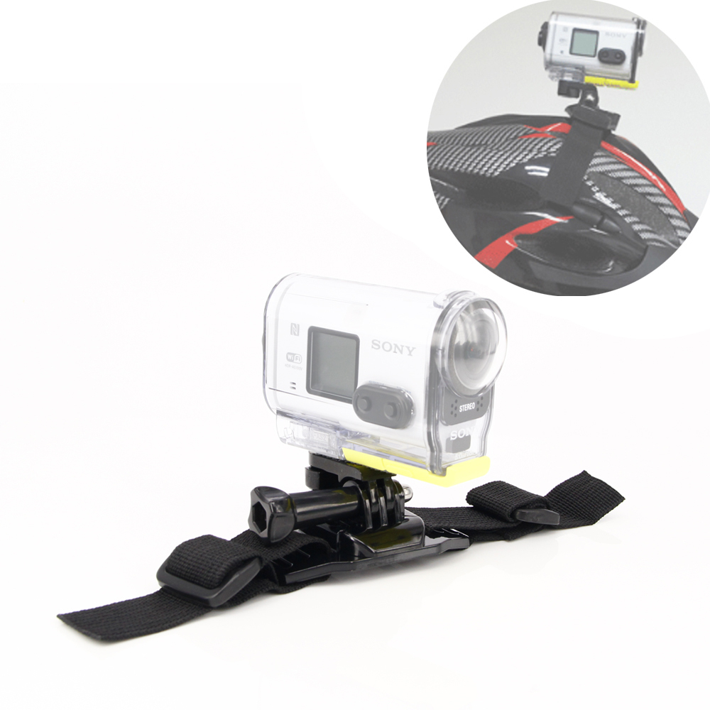 Bicycle Mountain bike Helmet Mount Strap For <font><b>Sony</b></font> action cam <font><b>Accessories</b></font> HDR-AS100V AS15V <font><b>AS30V</b></font> HDR-AZ1 AS200V <font><b>Accessories</b></font> image