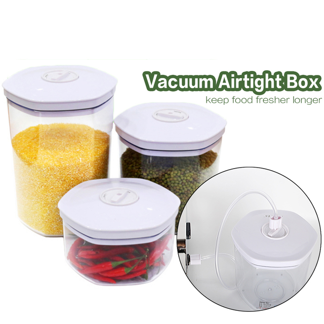 Vacuum storage box Fresh Vacuum Airtight Box For Food 700ml 1400ml 2000ml Vacuum Tank For Vacuum Sealer Machine