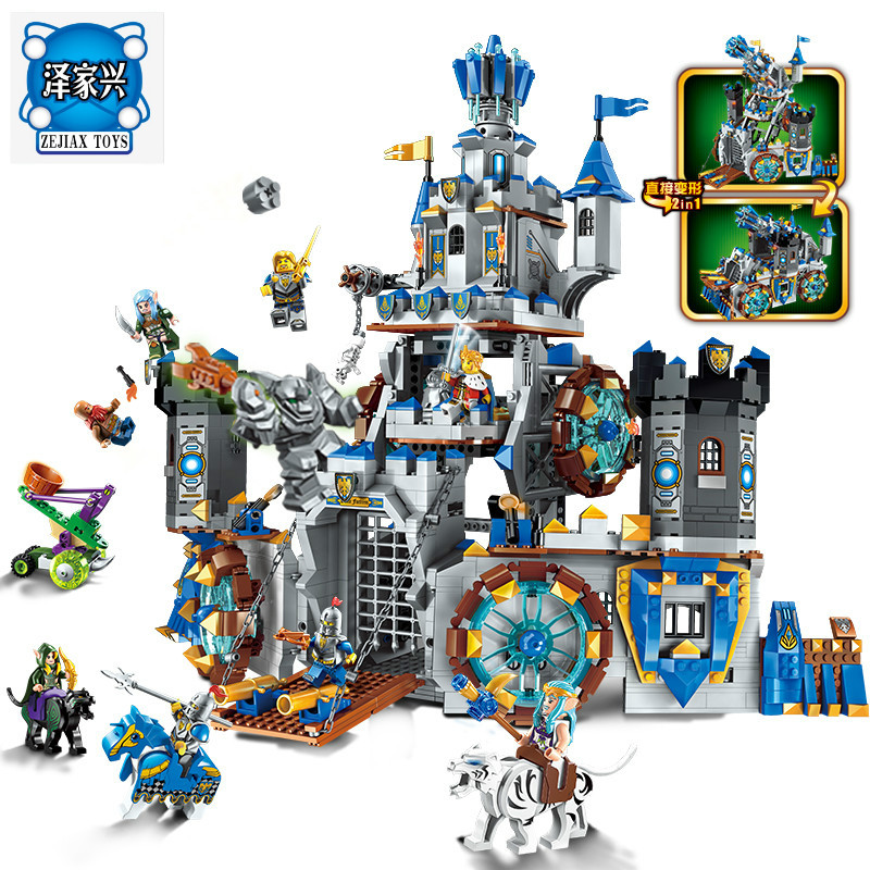 Enlighten Building Block War of Glory Castle Knights The Battle Bunker 9 Figures 1541pcs Educational Bricks Lepins Toy Boy Gift rollercoasters the war of the worlds