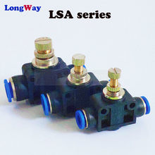 Pneumatische Montage Luchtstroom Regulator 6mm 8mm 10mm OD Slang Buis Gas Flow Passen Valve Connector Montage Air speed Control Crane(China)
