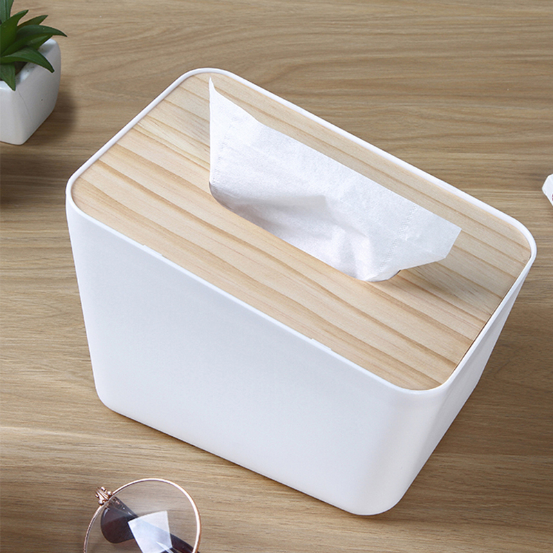 050 Fashion Vertical tissue box home living room tea table paper box simple wooden napkin carton toilet tissue box 18 12 12 5cm in Tissue Boxes from Home Garden