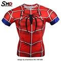 2016 Marvel Guerra Civil Compressão T-Shirt Fit Apertado Musculação Treino Traje Spiderman Quadrinhos Homem De Ferro Plus Size XXXXL
