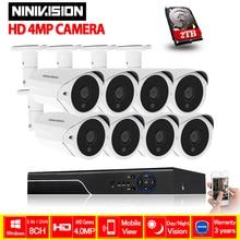 4mp CCTV Surveillance Kit 4.0mp Security Camera System 8ch DVR HDMI 1080P Video Output Kit AHD CCTV System Free APP Remote View