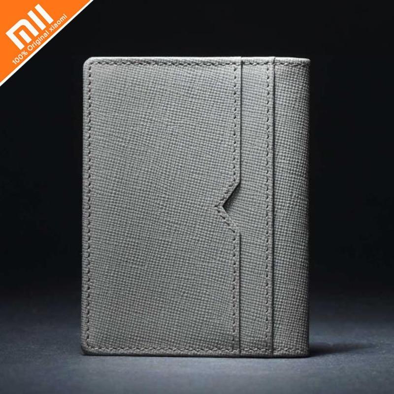 Xiaomi 90fun lớp đầu tiên da thẻ túi chống trầy xước ngang gấp gói thẻ dọc gấp gói thẻ