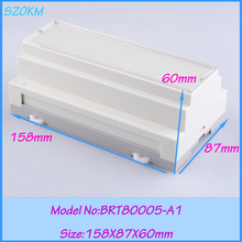 5 pcs/lot free shipping plastic electrical din rail box  enclosure for din rail  158*87*60mm plastic enclosure for electronic