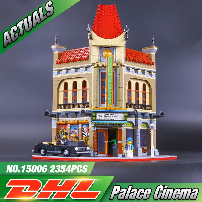 font b LEPIN b font 15006 2354pcs Palace Cinema Model Building Blocks Set Minifigures Bricks