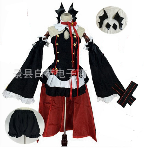 Аниме Серафим конца Owari no Seraph Krul Tepes униформа косплей костюм полный комплект платье наряд - Цвет: package 1