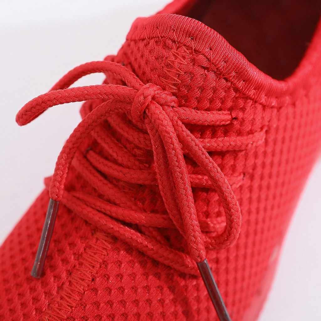MUQGEW çocuk bebek çocuk ayakkabı bebek kız erkek düz spor koşu ayakkabıları rahat ayakkabılar örgü nefes koşu ayakkabısı siyah