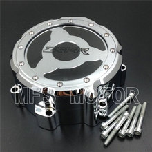 Motorcycle Left Engine Stator cover see through For Kawasaki ZX ZX14R ZZR1400 2006 2007 2008 2009 2010 2011 2012 2013 CHROME motorcycle part left side engine stator cover for suzuki gsx r gsxr600 600 750 2006 2007 2008 2009 2010 2011 2012 2013 chrome