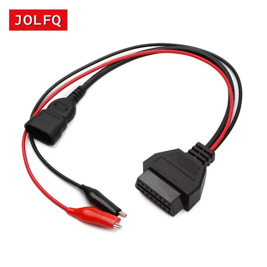 3 Pin To 16 Pin OBD Extension Cable OBD2 Connectors For Fiat Lancia Alfa Romeo