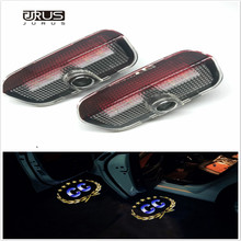 JURUS A pair LED Car Door Welcome Light Laser Projector Lamp For VW CC Tiguan Passat