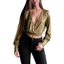 06b8340ea6 Gold Sequined Blouse Promotion-Shop for Promotional Gold Sequined ...