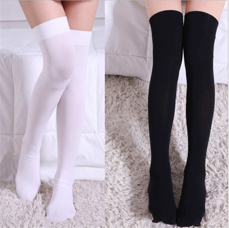 Hot Anime Cosplay Costume Cute Fashion Socks Thigh High Japanese Student Skidproof Socks Velvet White Silk High Quality.