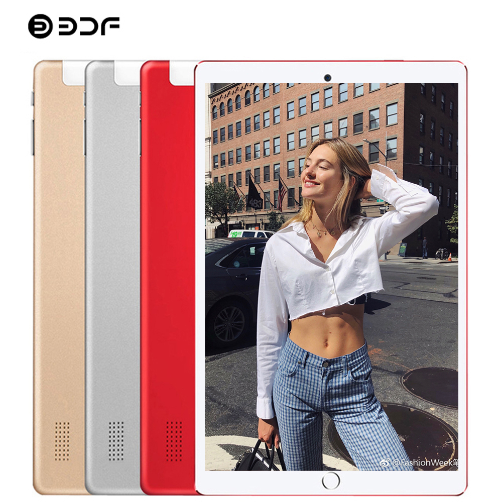 2020 New 10 Inch 3G Tablet PC Quad Core 1GB RAM 32GB ROM 1280*800 IPS Tempered Glass 10.1 Tablets Android 7.0 Mobile Phone Tab