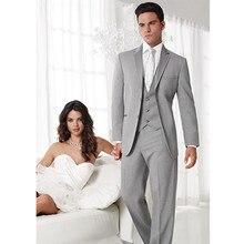 men wedding suits light gray tuxedo for groom formal wear 3 piece suit dress slim fit custom made suit