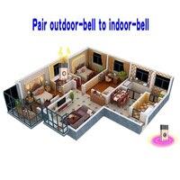149 * 146 * 34mm Wireless Home Doorbell Intercom Voice Transmitter Doorbell 1 Transmitter + 1/2/3 Receiver 200m 3x Receiver