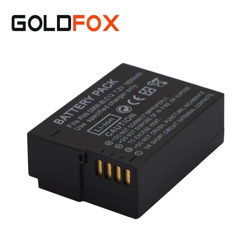 7.2 V 1800 mAh Batteria DMW-BLC12 BLC12 Batterie Rechargeable Pour Panasonic Lumix G6 G5 G7 FZ1000 Caméra Remplacement Li-ion Batterie