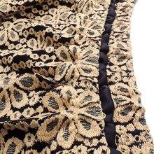 Retro Floral Crochet Lace Plus Size Midi Skirt