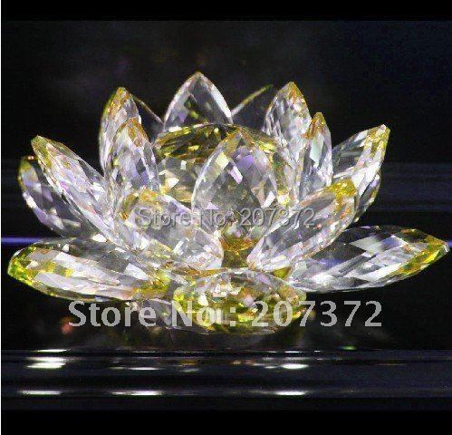 ộ ộ Livraison Gratuite 1 Pcs 120 Mm Cristal Fleur De Lotus