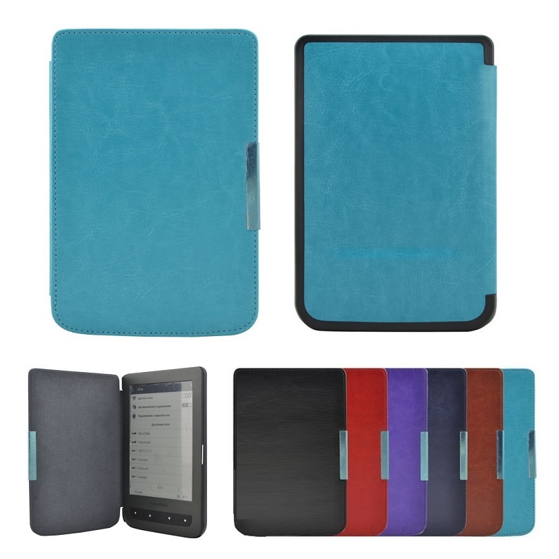 Magnet Flip ebook Case For Pocketbook 626 Plus 614 624 640 Cover PU Leather Slim Hard Shell Pocket book Touch 626 eReader Cases
