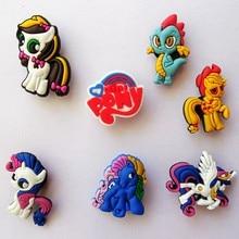 13 teile/satz New Kid mein Partei little horse poni Cartoon Thema crocs Geschirr Round schuhe dekoration oder kinder