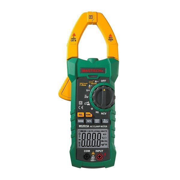 MASTECH MS2015A Multifunction AutoRange Digital Clamp Meters Multimeter AC/DC Voltage Current Tester True RMS digital dc ac clamp meters multimeter true rms voltage current resistance capacitance 1000a tester mastech ms2115a
