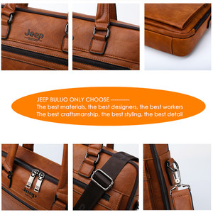 Image 5 - ジープbuluoブランド男性ビジネスブリーフケースバッグ 13.3 インチのラップトップA4 ファイル新スタイルショルダー旅行バッグ男高品質