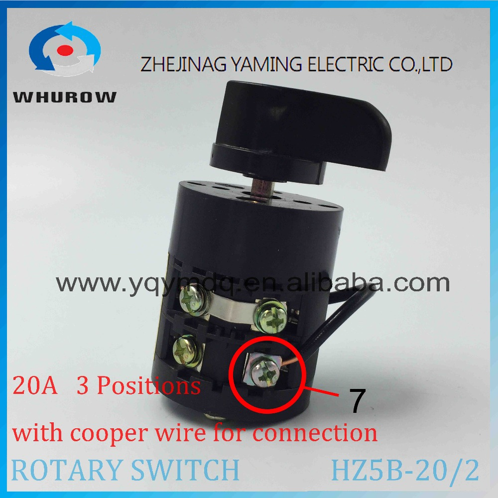 Rotary Switch Hz5b 20 2 With Cooper Wire Changeover Cam Combination Wiring Diagram Ith 20a Ui 500v 50hz Poles Sliver Point Contacts In Switches From Lights
