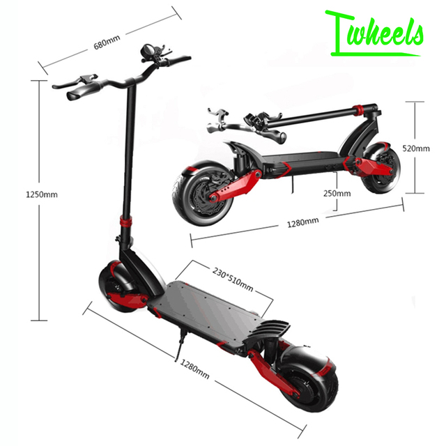 Speedual 10inch dual motor  electric scooter 52V 2000W off-raod e-scooter 65km/h double drive high speed kick scooter