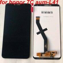 Oryginalny 5.7 cal dla Huawei Honor 7C aum L41 Aum L41 wyświetlacz LCD montaż digitizera ekranu dotykowego dla Huawei ATU LX1/L21 + rama