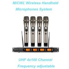 Pro UHF Беспроводная микрофонная система EW500 G4 965 караоке портативная беспроводная гарнитура петличный микрофон MiCWL 4 микрофона