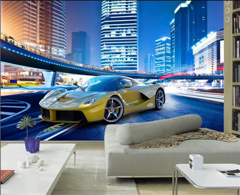 3d Room Wallpaper Custom Murals Non Woven Sticker Luxury Sports Car 3d Picture Sofa Tv Background Mural Wallpaper For Walls 3d Wallpapers Aliexpress