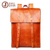 High Quality Genuine leather backpack fashion Vintage Style travel backpack mochilas school male large laptop bags business bag