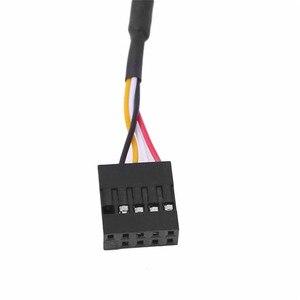 Image 4 - Adaptador de Cable divisor de extensión para PC y ordenador conector de placa base USB de 9 pines macho 1 a 2 hembra, línea de extensión DIY de 30CM